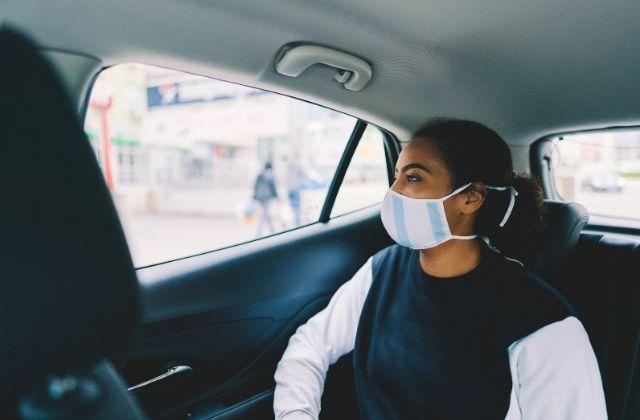 Podróż w maseczce w taksówce Glob-Trans Mielec